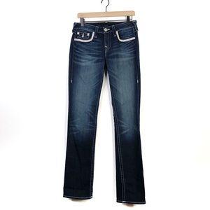 True Religion Slim Straight Embellished Jeans 29